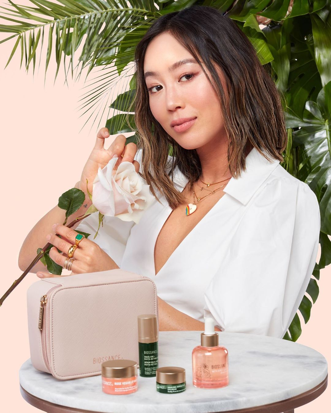 Aimee Song Teams Up With Biossance on Squalane + Vitamin C Rose Oil