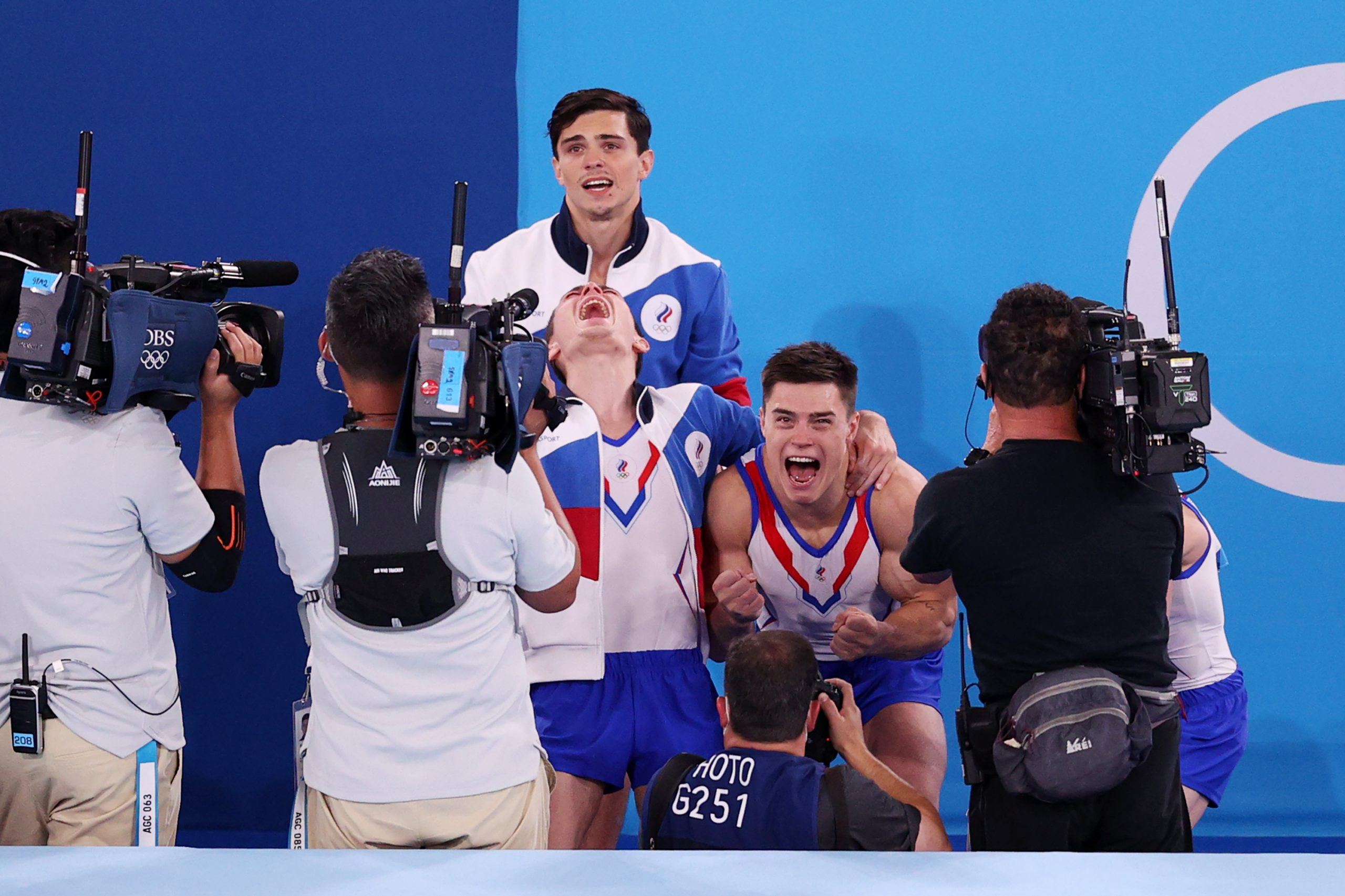 The Russian Olympics Committee clinches the gold in men's gymnastics