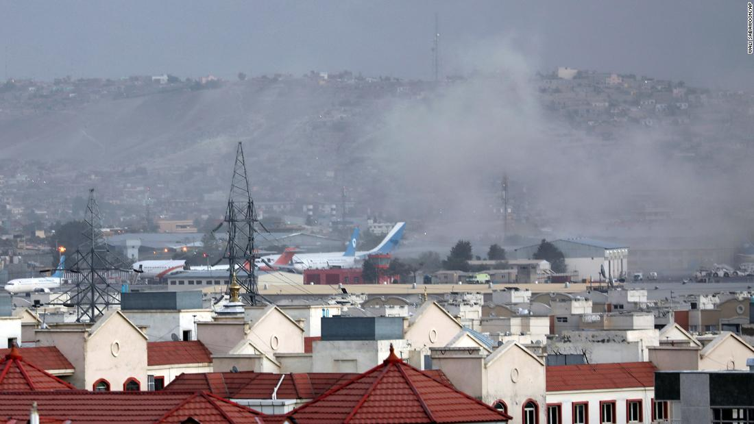 Latest on blasts reported outside Kabul airport