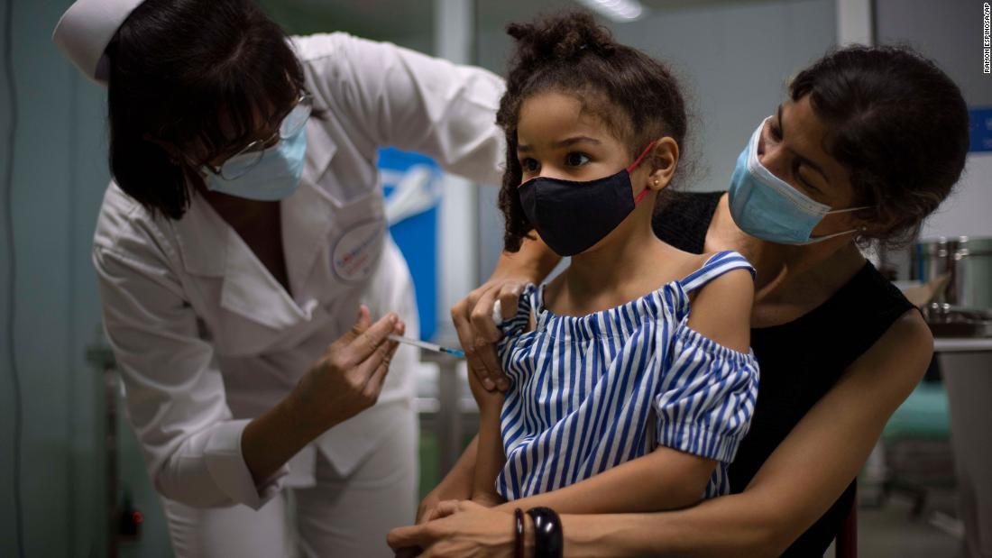 Cuba vaccinates children as young as two in strategy to reopen schools, economy