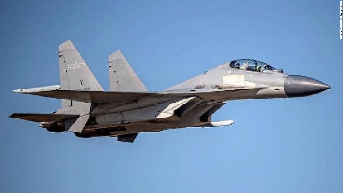 China sent 52 warplanes into Taiwan defense zone on Monday, Taipei says