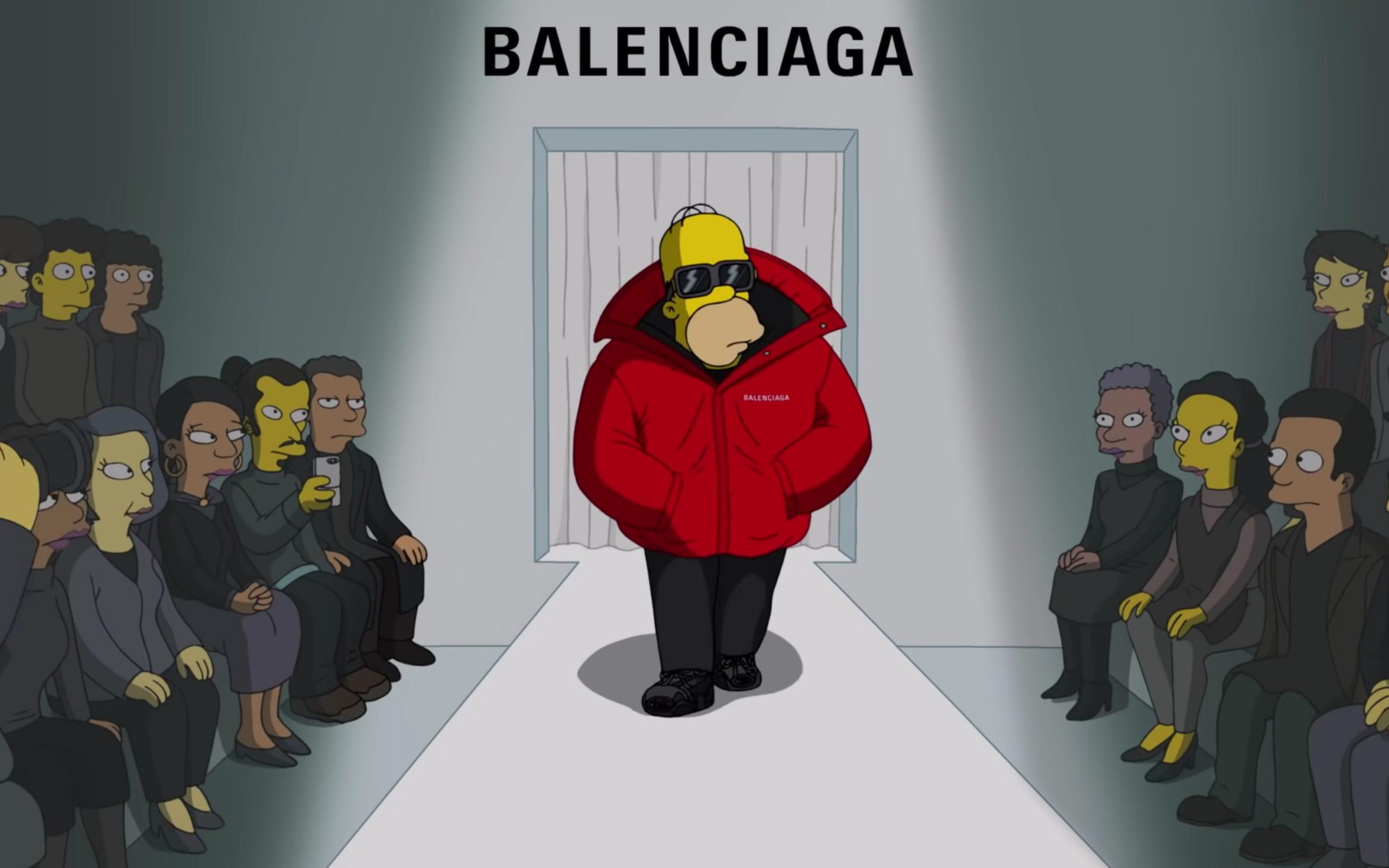 The Simpsons Take Over Balenciaga Runway at Paris Fashion Week